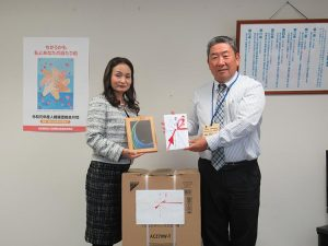 宮銀CSR型私募債発行記念贈呈式